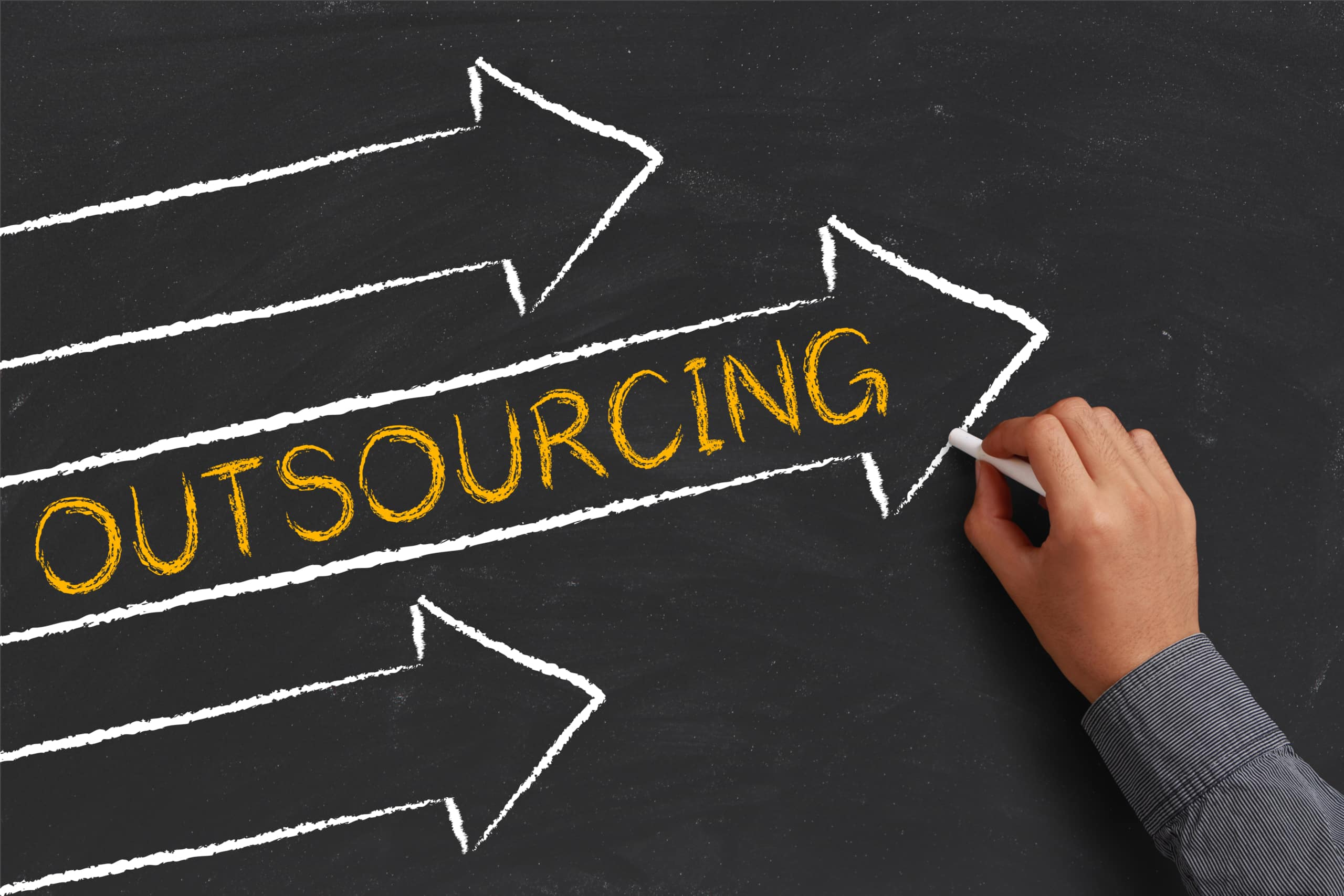 outsourcing graphic